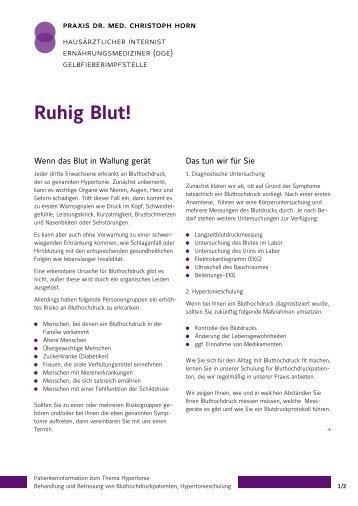 Ruhig Blut! - Arztpraxis Dr. med. Christoph Horn