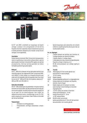 VLT® serie 2800 - Danfoss