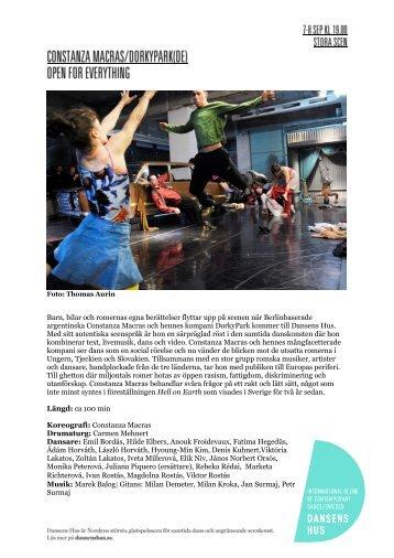 2012 Open for everything - Dansens Hus