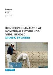 Konsekvensanalyse af kommunalt ... - Dansk Byggeri