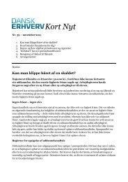 printvenlige udgave af Kort Nyt nr. 39 - november ... - Dansk Erhverv