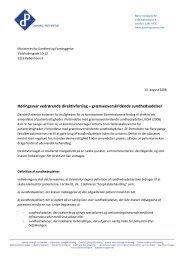 Høringssvar vedrørende direktivforslag ... - Danske Patienter