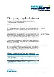 VK-regeringen og dansk økonomi - Dansk Erhverv