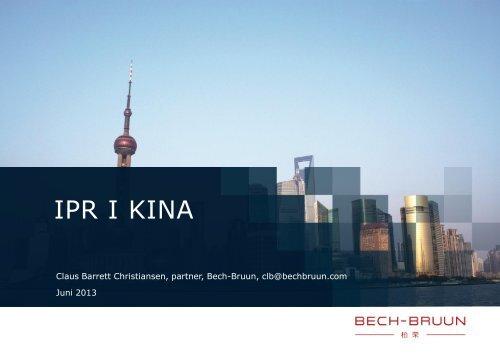 IPR I KINA - Dansk Erhverv