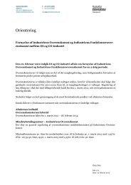 Orientering om fornyelse af Industriens ... - Dansk Erhverv