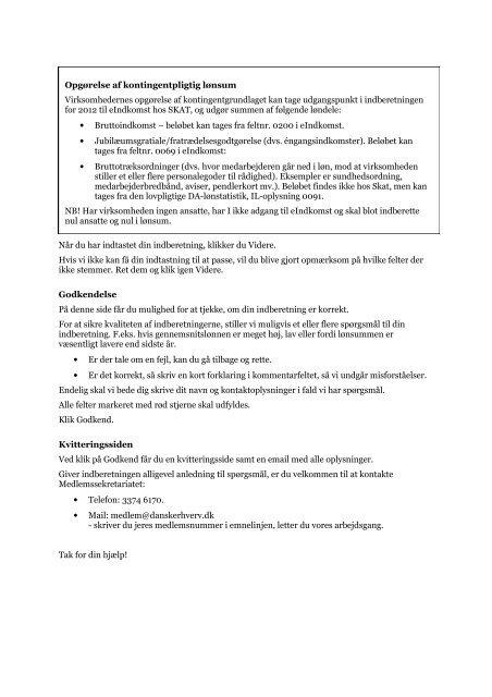 Vejledning til indberetning af lønsumsoplysninger ... - Dansk Erhverv