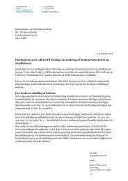 Ændring af konkurrenceloven og straffeloven - Dansk Erhverv