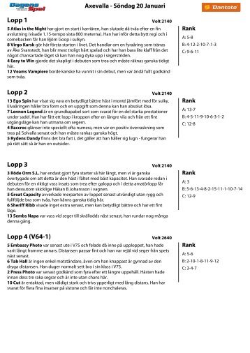Lopp 11 - Dantoto