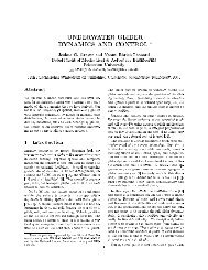 UNDERWATER GLIDER DYNAMICS AND CONTROL * - UFSC