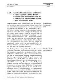 2.8.4 Geschlechterverhältnisse und Krank- heitsmanagment Gender ...