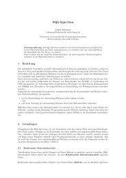 SQL-Injection - Albert-Ludwigs-Universität Freiburg