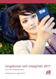 Ungdomar och integritet 2011 - Rapport - Datainspektionen