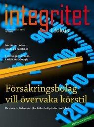 Integritet i fokus nr 4-2012 - Datainspektionen
