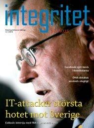 Integirtet i fokus nr 3-2012 - Datainspektionens tidning ...