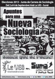 La UES - Plataforma Sociología