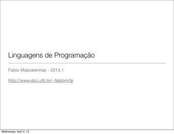 01/04/2013 - DCC - UFRJ
