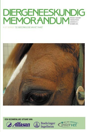 De endocrinologie van het paard - Diergeneeskundig Memorandum