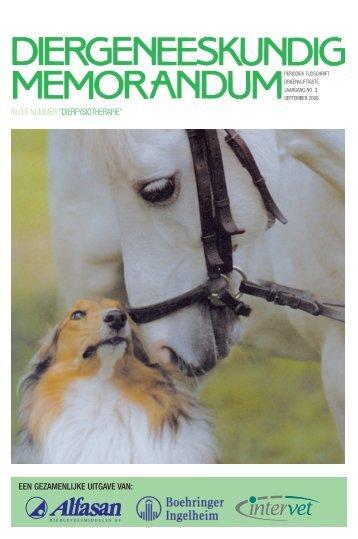 de dierfysiotherapie in Nederland - Diergeneeskundig Memorandum