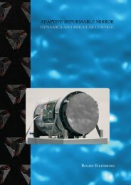 Adaptive deformable mirror- dynamics and modular control