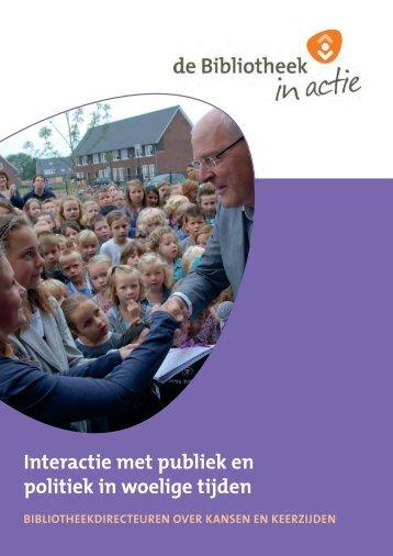 Interactie met publiek en politiek in woelige tijden - Vereniging van ...