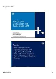 HP-UX LVM Comparison with Tru64 UNIX LSM