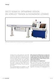 S-DM 39-4/06-Sauv - DECO Magazine - The site - Tornos SA
