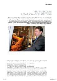 högteknologisk robotliknande bearbetning - DECO Magazine - The ...