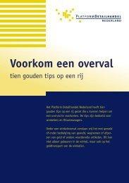 Voorkom een overval - Detailhandel Nederland