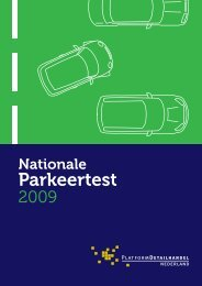 Parkeertest - Detailhandel Nederland