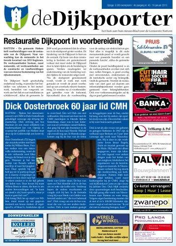 De Dijkpoorter week 03 - 16-01-2013