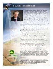 Duurzame prestaties - John Deere