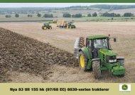Nya 83 till 155 hk (97/68 EC) 6030-serien traktorer - John Deere