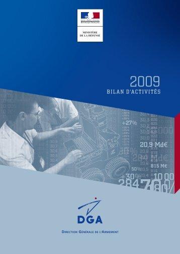 Bilan d'activités 2009 - Ministère de la Défense