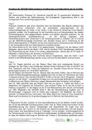 Protokoll Leipzig - Degum