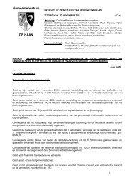 EXTRACT UIT DE NOTULEN VAN DE GEMEENTERAAD - De Haan