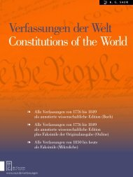 Verfassungen der Welt Constitutions of the World - Walter de Gruyter