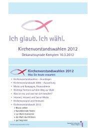 Kirchenvorstandswahlen 2012 - Dekanatsbezirk Kempten/Allgäu