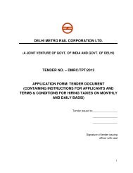 tender document - Delhi Metro Rail Corporation