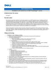 Servicebeskrivning Installation och kontroll av en Dell PowerEdge ...