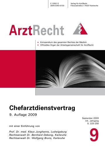 Prof. Dr. med. Klaus Junghanns, Ludwigsburg ... - Arztrecht