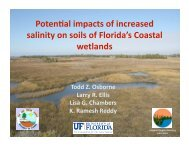 Potential Impacts of Increased Salinity of Soils of Florida's Coastal ...