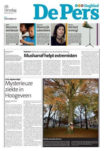 Mysterieuze ziekte in Hoogeveen - De Pers