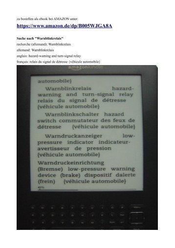 deutsch englisch franzoesisch und englisch deutsch franzoesisch Fachwoerterbuch Kraftfahrzeugtechnik kfz Elektronik Mechatronik.pdf