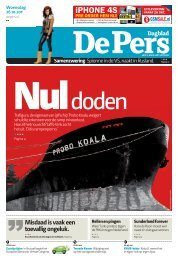 Woensdag 26 oktober 2011 - De Pers