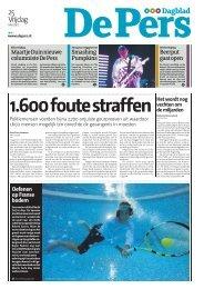 1.600 foute straffen - De Pers