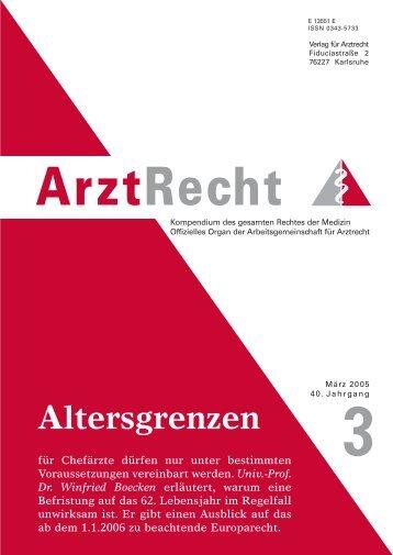 Univ.-Prof. Dr. Winfried Boecken - Arztrecht