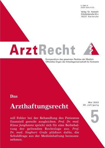 Prof. Dr. med. Sieghart Grafe - Arztrecht