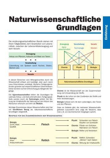Naturwissenschaftliche Grundlagen - der-junge-koch.de