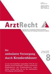 Prof. Dr. jur. Herbert Genzel - Arztrecht