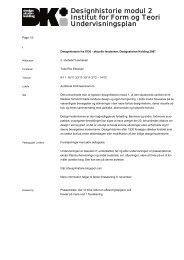 3. sem., Manchet Designhistorie Modul 2 - Designskolen Kolding